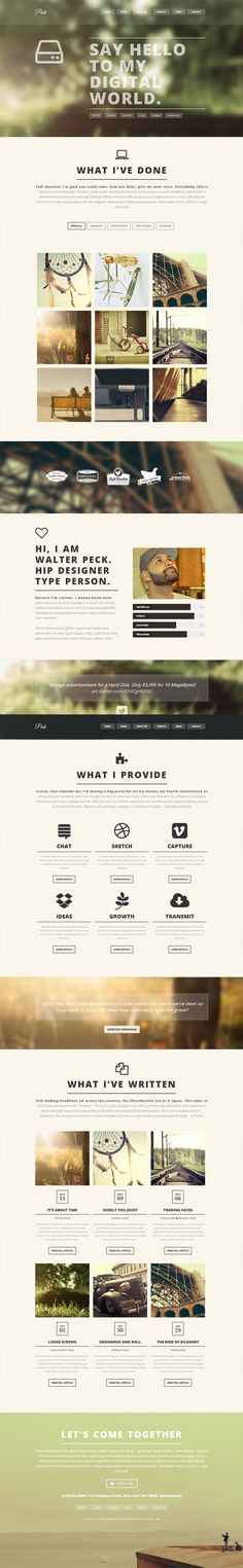 PECK - Creative One Page WordPress Theme #Webdesign #Website