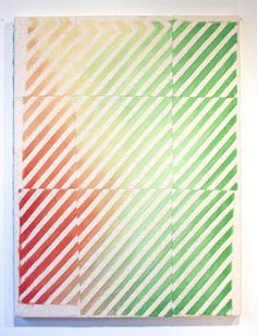 Rebecca Ward   Coat of Many Colors, oil and cotton thread on batting over panel, 40 x 30 inches; Barbara Davis Gallery