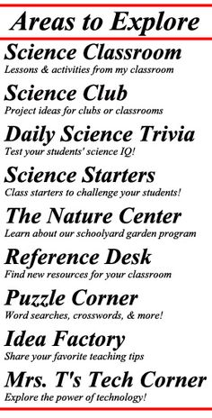 The Science Spot--lots of great stuff on here!  I am thinking of starting a Science Club next year since I saw all the resources.