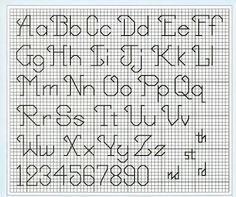 Back Stitch Alphabet Fonts Alphabet Backstitch Alphabet Crosses - 236x197 - jpeg