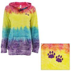 Rainbow Paw Tie Dye Hooded Sweatshirt