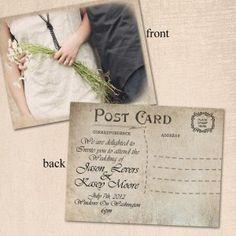 scarborough postcard | wedding invites | pinterest, Wedding invitations
