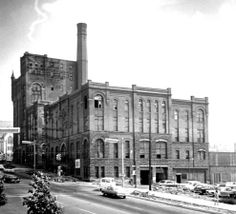 The old Grand Rapids Brewing Co. facility on Michigan Street NW between Ionia and Ottawa Aves. The facility was built in 1892. It was used by several different brewing companies over the years, the last being Peter Fox Brewing of Chicago, which ceased operations there in 1951. The city bought the property in 1954 and used it for storage until selling the site to the state of Michigan. The brewery was razed entirely in 1967. The state building stands on its site today.