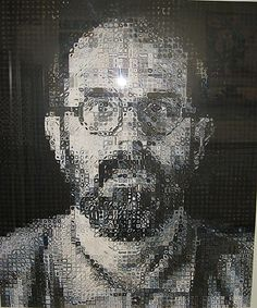 Self-Portrait Chuck Close (American, born Monroe, Washington, 1940) Date: 1995