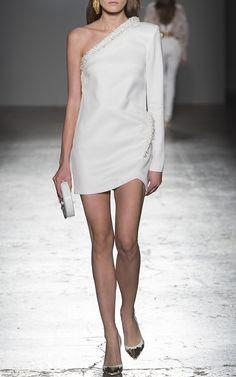 One Shoulder Mini Dress by GENNY for Preorder on Moda Operandi