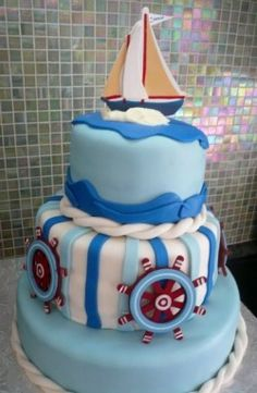 Baby shower cake for my friend Teresa - her son is Connor.