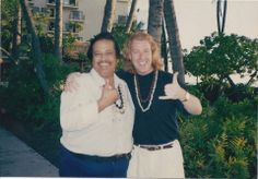 Early 90's shot with me and Harvey at The Keauhou Beach Hotel on The Big Island of Hawai'i