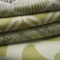 Design Center Associates ~ Designer Fabric Available through Our Showroom / Fabric Library / Green and Cream / Design Trends / Pindler & Pindler  