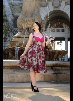 Grace Dress in Baton Rouge Floral on Cinder Satin - My next dress from Pin Up Girl Clothing!