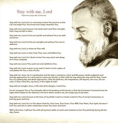 St. Padre Pio's Prayer After Communion.