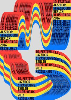 Jazzdor Berlin 2016 Posters, by Helmo