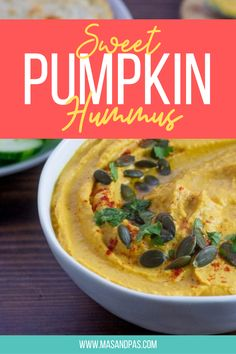 Easy hummus dip recipe with a fall twist! Pumpkin hummus will quickly become your new favorite dip. It's also very easy and quick to make. #fallrecipe #pumpkinrecipe #hummusrecipe #hummusdip #pumpkinhummus Healthy Meals For Kids, Kids Meals, Easy Meals, Hummus Dip, Hummus Recipe, Nutritious Snacks, Healthy Snacks, Holiday Foods, Holiday Recipes