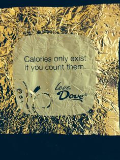 You have to love Dove Chocolates...