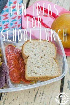 fun ideas school lunch text