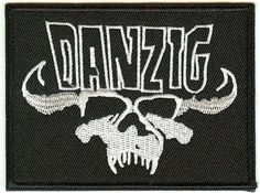 Danzig Iron-On Patch Rectangle Skull Logo