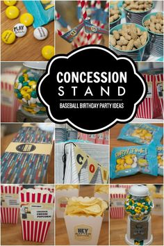 Baseball Birthday Party Concession Stand #ad #MYMMS