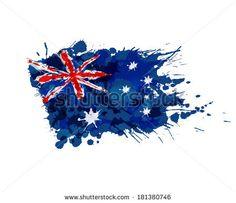 Australian Flag Made Colorful Splashes Stock Vector (Royalty Free) 181380746 Australia Tattoo, Sketch Style Tattoos, Australian Flags, Military Tattoos, Egyptian Tattoo, Flag Art, Desenho Tattoo, Body Art Tattoos, Tatoos