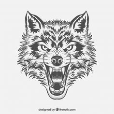 Wolf Vectors, Photos and PSD files Wolf Tattoos, Wolf Face Tattoo, Tribal Wolf Tattoo, Werewolf Tattoo, Celtic Tattoos, Animal Tattoos, 16 Tattoo, Knee Tattoo, Tattoo Drawings