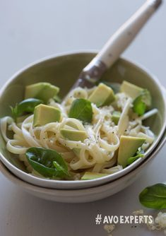 Prepare a light summer pasta with fresh herbs, cheese and avocado oil. Stir in cubes of avocado and enjoy at room temperature.