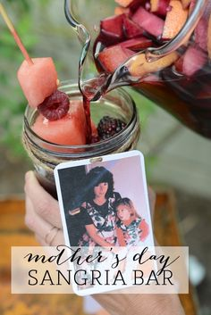 Mother's Day Sangria Bar | Cupcakes and Cashmere