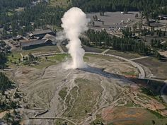 Sixty percent of the world's geysers reside in Yellowstone National Park, the most famous being Old Faithful.