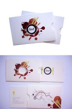 Restaurant Business Card  #Business #Card #letterpress #creative #paper #bizcard #businesscard #corporate #design #visitenkarte #corporatedesign < repinned by www.BlickeDeeler.de   Have a look on www.LogoGestaltung-Hamburg.de