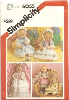 Simplicity 1983 Doll Clothes Pattern