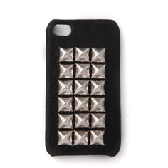 Jagger Edge The Montana Studded iPhone Cover ($99) ❤ liked on Polyvore featuring accessories, tech accessories, phone cases, phones, iphone, electronics, iphone stud case, iphone case, iphone sleeve case and apple iphone cases