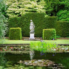 Water in English Gardens (29 of 33) | Ornamental Pond with Irises, Knightshayes Court, Devon, UK. | Flickr - Photo Sharing!