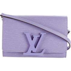 Pre-owned Louis Vuitton Epi Louise PM ($1,375) ❤ liked on Polyvore featuring bags, handbags, purple, purple handbags, hand bags, louis vuitton purse, summer purses and summer bags