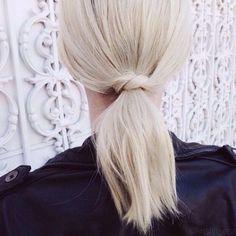 Ponytail knot.