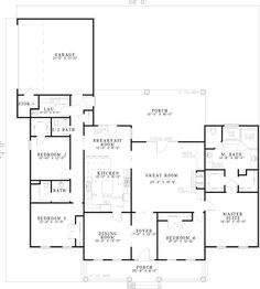 Ranch House Plan First Floor - 055D-0203 | House Plans and More