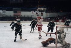 "The ""Photo of the Day"" is of Peter Johnson after a goal against Michigan State during the 1980-81 season. Not sure of the photographer. In case you didn't know, he was pretty darn good as well."