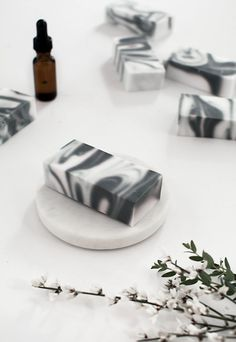 DIY marbled soap
