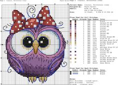 New Embroidery Patterns Free Baby Punto Croce Ideas Cross Stitch Owl, Baby Cross Stitch Patterns, Just Cross Stitch, Cross Stitch Cards, Cross Stitch Animals, Cross Stitch Kits, Cross Stitch Designs, Cross Stitching, Cross Stitch Embroidery