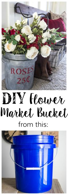 DIY Flower Market Bucket