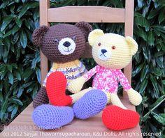 Ravelry: Huggy Bear Amigurumi Crochet Pattern pattern by Sayjai Thawornsupacharoen