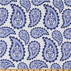 clean and crisp...paisley in blue and white Delft Remix Paisley White/Blue http://www.fabric.com/ProductDetail.aspx?ProductID=fbf773d4-52d8-4e5c-bf74-015437d1f06c