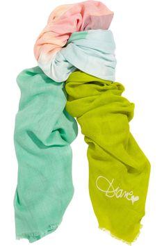 Diane von Furstenberg|Fine-knit modal scarf