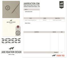 janereaction.com - clean invoice