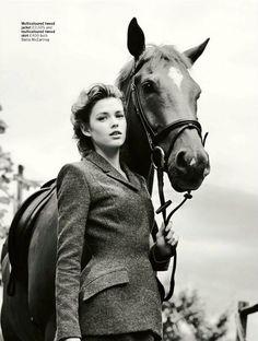 Stella McCartney tweed goes retro equestrian.