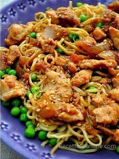 Un plat express que vous apprécierez certainement si vous aimez la cuisine asiatique, c'est léger, équilibré et très facile à faire, voici la recette : Pour 4 personnes il faut: 3 à 4 escalopes de poulet...