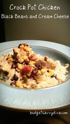 Crock Pot Chicken With Black Beans and Cream Cheese