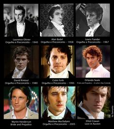 Laurence Olivier, Colin Firth, & Matthew MacFadyen are my faves Matthew Macfadyen, Bbc, Jane Austen Movies, Pride And Prejudice 2005, Mr Darcy, Drame, Colin Firth, Jane Eyre, Film Music Books