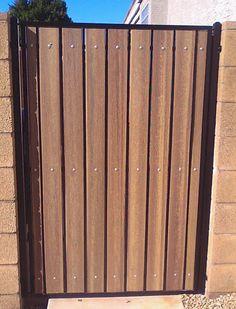 Iron and Wood Gates Design | Iron and Wood Gates: standard iron & composite pedestrian gate