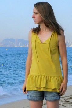Summer Breeze tunic PDF sewing pattern