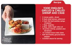 Heat things up then cool it down with Todd English's Grilled and Chilled Shrimp and Crab, only on mblog.macys.com