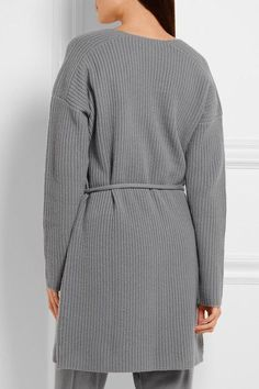 Eres - Morning Wool And Cashmere-blend Cardigan - Stone - 3
