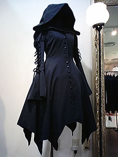 Hooded coat dress...perfect for the witch costume!