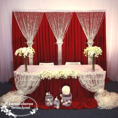 45 Ideas Wedding Backdrop Red Backgrounds Head Tables For 2019 45 Ideas Wedding Backdrop Red Backgrounds Head Tables For Head Table Backdrop, Backdrop Decorations, White Backdrop, Reception Decorations, Event Decor, Wedding Stage, Red Wedding, Wedding Ceremony, Party Kulissen